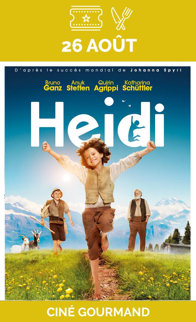 26 août | Heidi - Soirée gourmande
